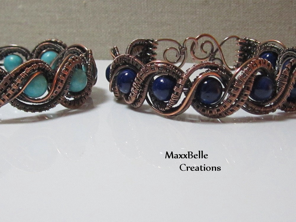 TUTORIAL - Double Twisted Wire Weave Bracelet from ...