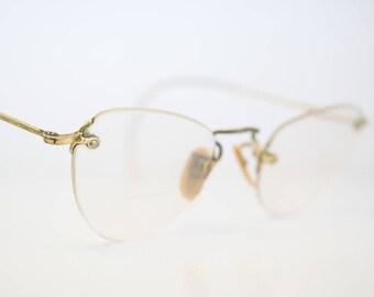 Antique Gold Filled Rimless Eyeglass Frames