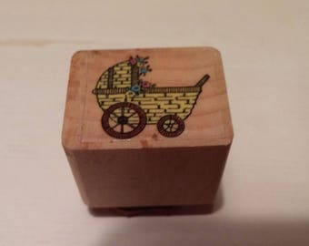 Retired Rubber Stamps    -   Baby's  Buggy