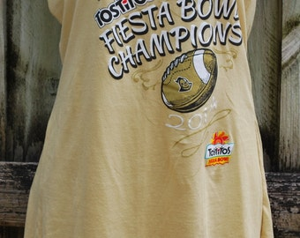 University of Central Florida UCF Knights Upcycled Womens Strapless Top Shirt Size Medium