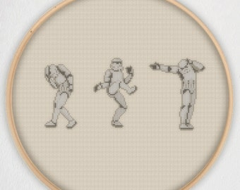 Dancing Stormtroopers Star Wars Cross Stitch Pattern