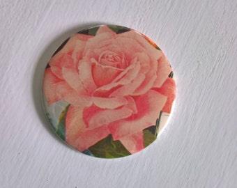 SALE Sweetest Rose Pocket Mirror --- Vintage Flower Garden English Beauty --- Sweetheart Revolutionary Girl Utena Accessory Stocking Stuffer
