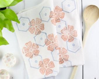 Linocut Printed Tea Towel Craft Kit