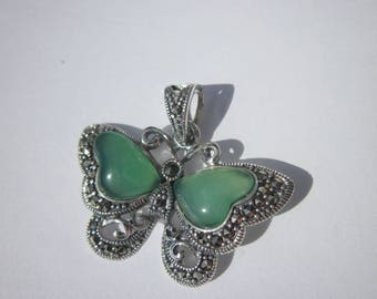 """Butterfly pendant with agate over """"925"""" (43)"""