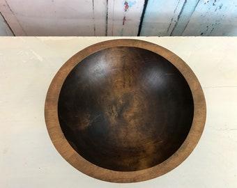 Primitive Wood Bowl| Antique Dough Bowl| Wooden Bowls| Primitive Fruit Bowl| Rustic Decor| Free Shipping