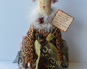 A True Friend knows the Song in your Heart and Sings to you when your Memory Fails - Whimsical Doll