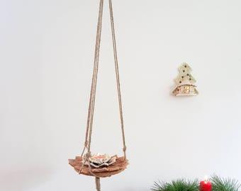 Hanging plant holder. Hanging planter. Hanging plant stand. Macrame plant hanger. Macrame plant holder. Holiday decor. Home decor. Christmas