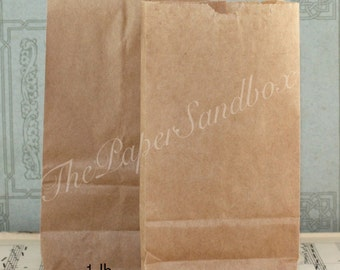 100 Flat Bottom Brown Paper Bags, Choice of 3 sizes, Printable Bags, Candy Bags, Treat Bags, Goodie Bags, Halloween Treat Bags, Bargain Bags