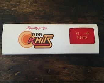 Vintage Los Angeles Radio Station Matchbook Set / Matches / 97 FM / KHTZ