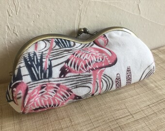 Glasses case/Bingata / Cotton /Flamingo Pattern