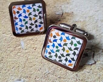Alhambra Stars Tile Cufflinks