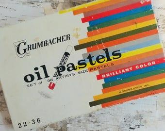 Vintage Oil pastels 36 set Grumbacher pastels
