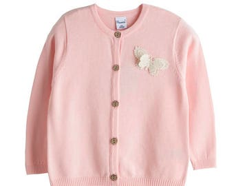 Cardigan girl, Girl cardigan, Pink color, Girl jacket, Sizes 8,12 and 14 years old