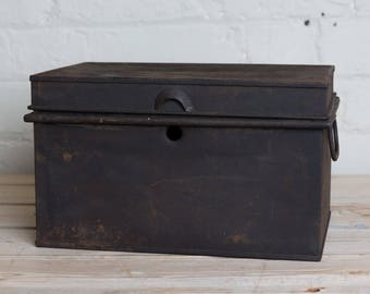 Vintage Black box, storage, office, den, metro home,industrial home