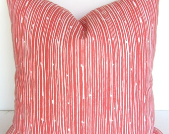 Coral PILLOWS CORAL Throw Pillows Coral Striped Pillow Covers salmon orange 16 18 20x20 Coral Pillows Home and Living