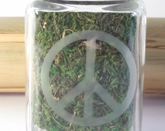 Peace Sign Stash Jar - Weed Accessories, Stoner Gifts & Stash Jars - Weed Gifts for Her - Ganja Gear - Stoner Accessories, Girls Who Smoke