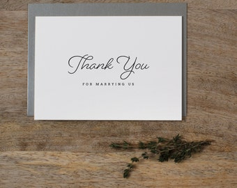 Thank you for Marrying Us - Wedding Card to Officiant, Wedding Day Card, Wedding Cards, Minister, Judge, Pastor, Priest, Thank You Cards, K1