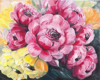 Flowers ,gift ,oil painting
