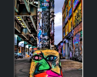 5 Pointz Face - Matted Print
