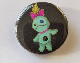 """Scrump - 1.25"""" button - Waiting for Lilo or Stitch to love Scrump.  Button perfect for any Ohana member"""