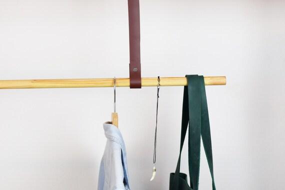 Kleiderstange Decke lederriemen für kleiderstange hängen kleiderständer