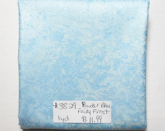 Fairy Frost Fabric-1 yd piece #3829 Powder Blue Fairy Frost/Micheal Miller D#CM 0376