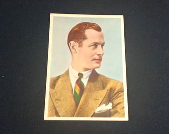 Postcard movie actor Robert Montgomery