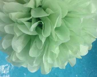WILLOW GREEN / 1 tissue paper pom pom // baby shower / wedding decoration / birthday / bridal shower / nursery decor / anniversary