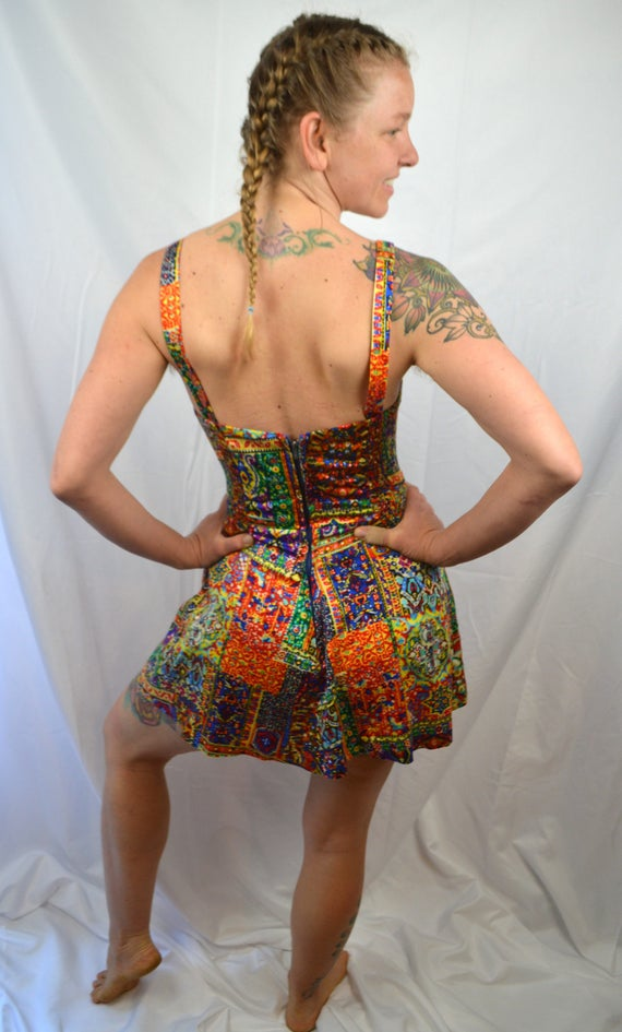 Playsuit Suit Swimsuit Tiki Summer 60s 1950s Rainbow Vintage Kahala Swim Pinup 7vZaqZ