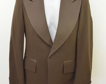 on sale Vintage FORMAL CRAFT Riding Coat jacket size 37 brown