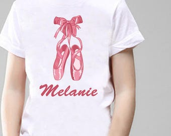 Ballet Personalised T-Shirt, Printed With Any Name.