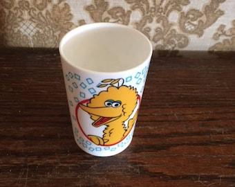 Muppet Inc.  Big Bird Plastic Glass 1989
