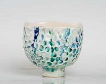 BLUMEA - Porcelain bowl, unique, handmade, OOAK