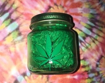 Smoke Green-Stash Jar