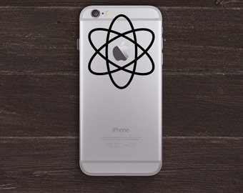 Atomic Apple Logo version 2 Vinyl iPhone Decal BAS-0238