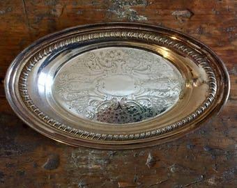 Vintage Silver Plate Serving Platter