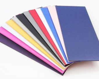 """25 - 4 x 9 1/4"""" Matte Card Stock Paper  - Matte Card Stock Paper - Menu Card Paper"""