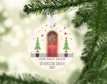 Personalized 1st Home Christmas Ornament