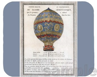 Mouse Pad; Montgolfier Brothers' 1783 Balloon Flight