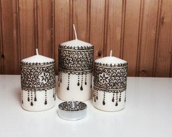 Henna candle set of 4