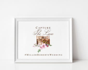 Wedding Hashtag Sign | Instagram Wedding Sign | Rustic Wedding Sign | Social Media Wedding Sign |NO FRAME,Style #2171