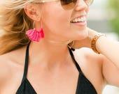 Hoop Fringe Earrings by G...