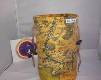 "Bag with separates ""Map Middle Earth"""