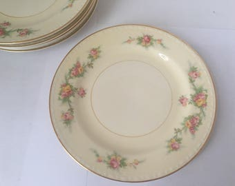 Vintage Homer Laughlin Bread and Butter Plates - Eggshell Georgian Pattern