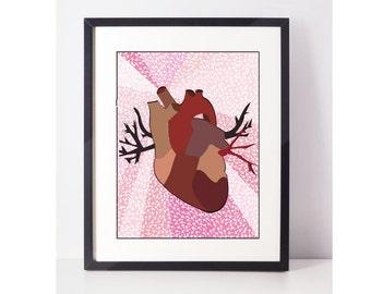 HeartIsh: Heart Art, Heart Art Print, Heart Arrow, Valentine's Card, Valentine, Valentine's Love, Valentine's Day Gift, Valentine's Decor