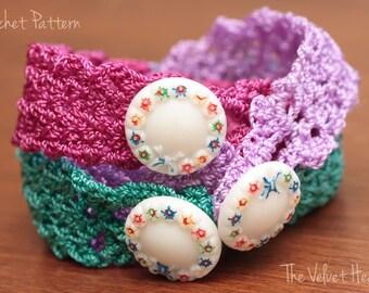 Crochet Cuff Bracelet Pattern, Step By Step Instructions, Jewelry Tutorials, DIY Jewelry, Quick Crochet Pattern, Easy Crochet, Thread (34)