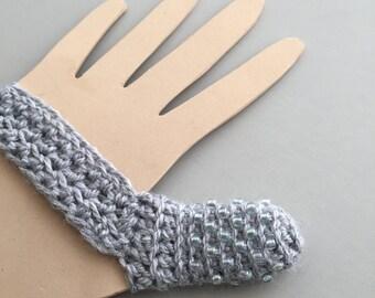 Skin Picking Thumb Guard - Excoriation Disorder - Dermatillomania - Long Term Bandage - Custom Size - Grey