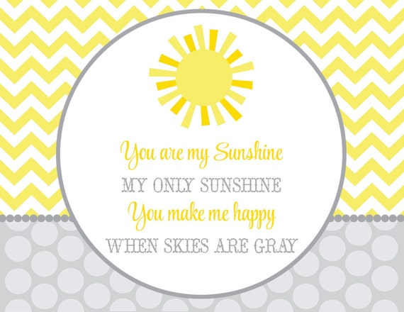 Delightful Items Similar To You Are My Sunshine Baby Shower PARTY PACK On Etsy