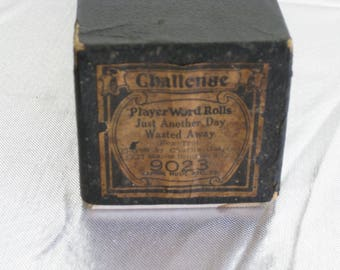 """Vintage player piano roll, """"Just Another Day Wasted Away"""", 1927, a Fox Trot from Challenge Music"""
