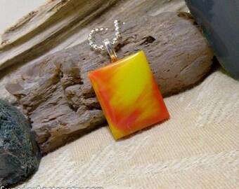 Bright Tie Dye Bowlerite Pendant Small, Dainty, Kids, Teens, Teachers, Friends